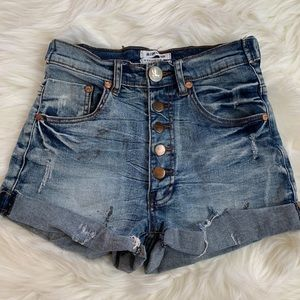 ONETEASPOON High Rise Jean Shorts Size 26